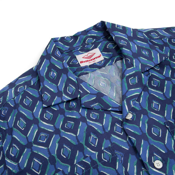 Five Pocket Island Shirt (SS19), Blue Print