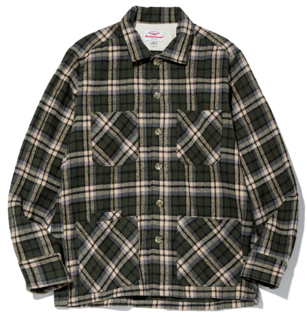 Five Pocket Canyon Shirt, Green Plaid