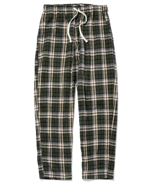 Active Lazy Pants, Green Plaid