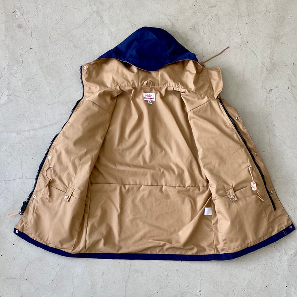 Travel Shell Parka, Navy x Khaki