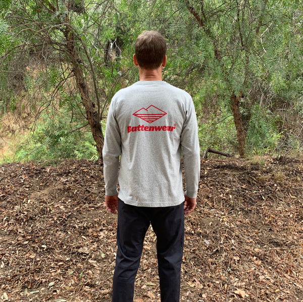 CA L/S Basic Pocket Tee (FW19), H Grey