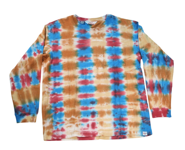 L/S Pocket Tee, Parallel Tie Dye
