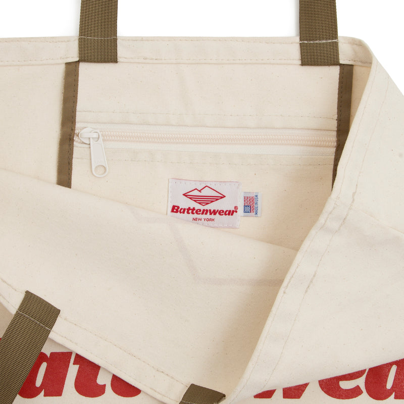 Logo Canvas Tote, Natural