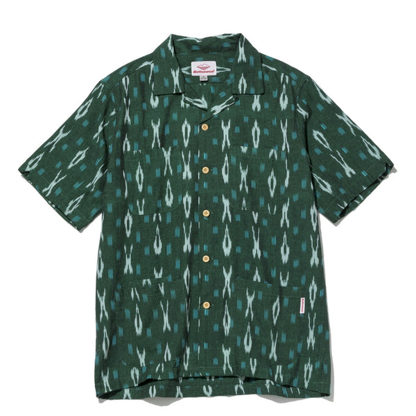 Five Pocket Island Shirt, Green Ikat