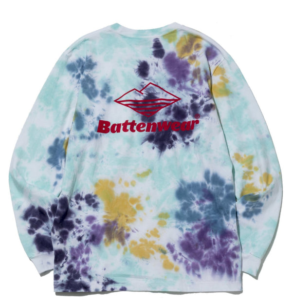 Team L/S Basic Pocket Tee, Tie Dye