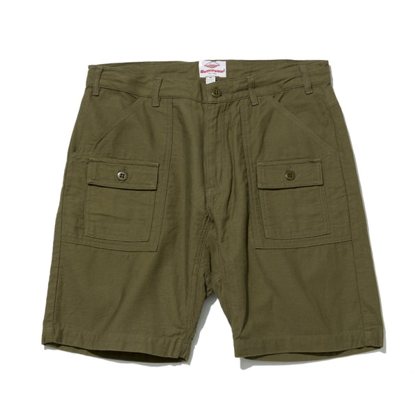 Trek Shorts, Olive Back Sateen