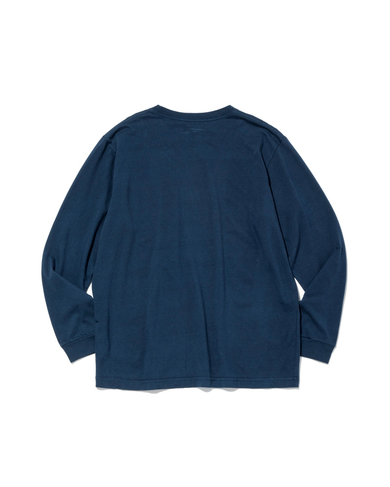 L/S Basic Pocket Tee, Navy