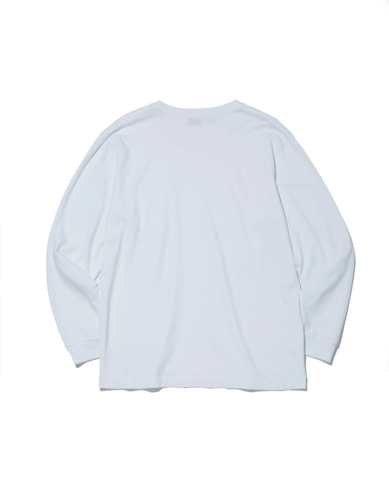 L/S Basic Pocket Tee, White