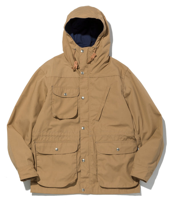 Travel Shell Parka, Khaki x Navy