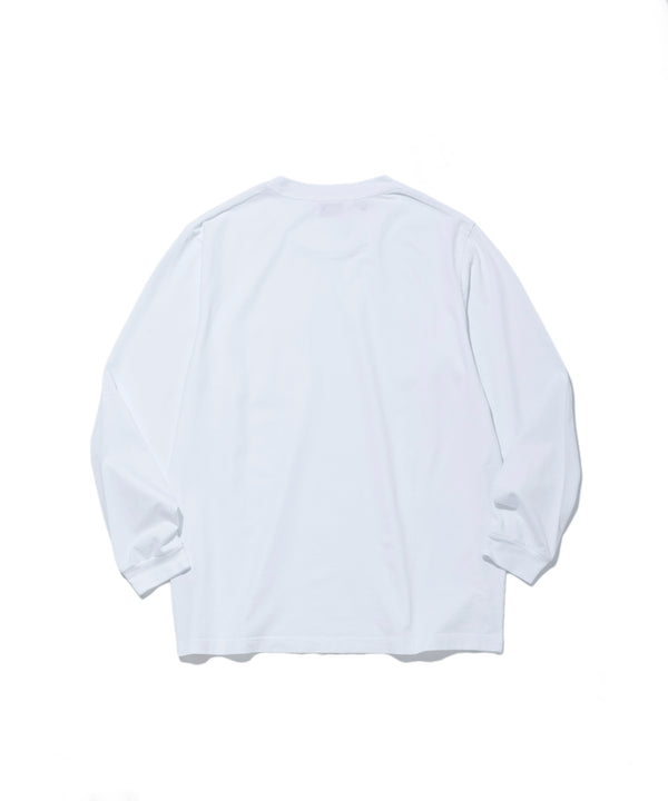 Surf the World L/S Pocket Tee, White
