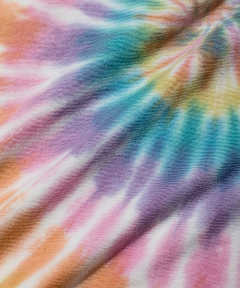 Surf the World L/S Pocket Tee, Spiral Tie Dye
