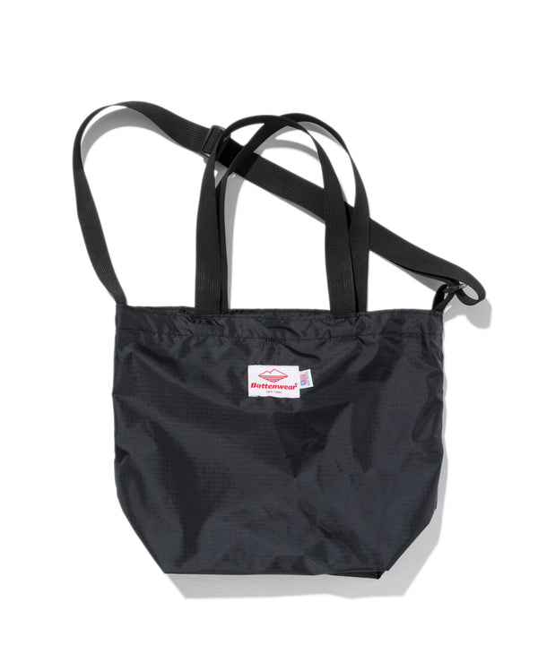 Mini Packable Tote, Black x Black
