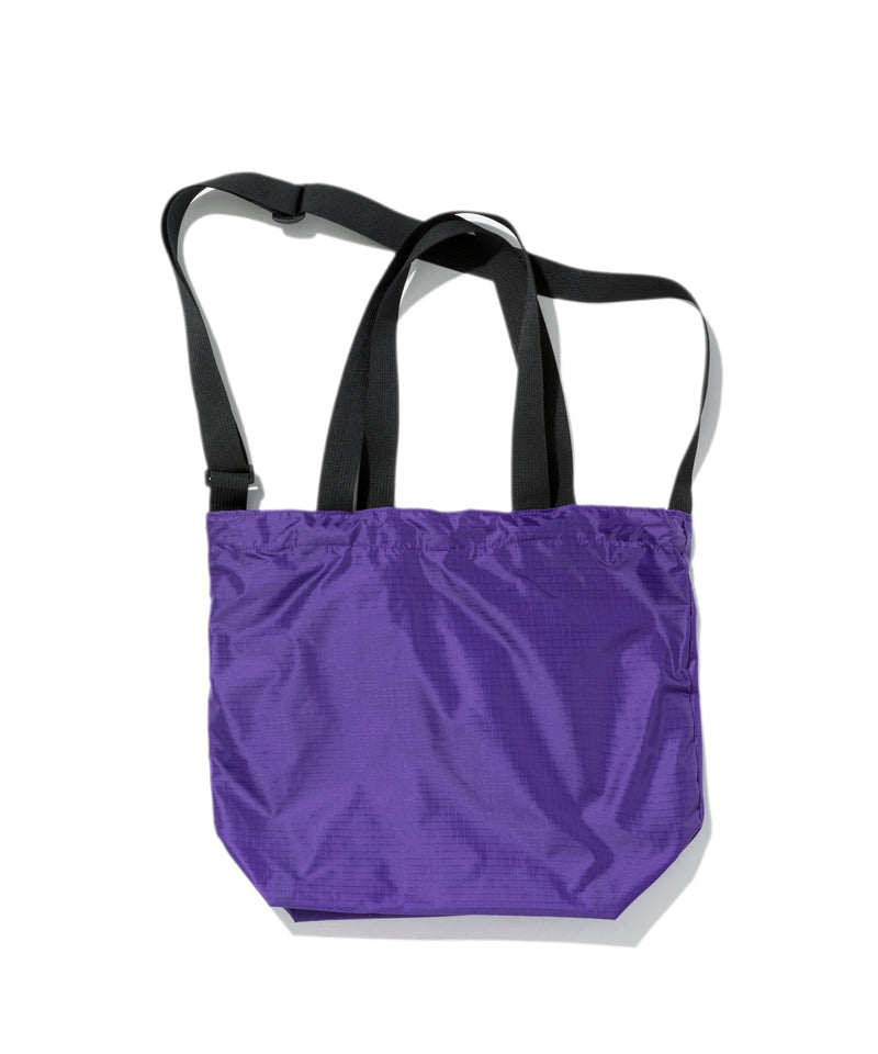 Mini Packable Tote, Purple x Black