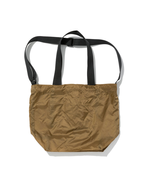 Mini Packable Tote, Tan x Black