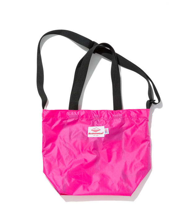 Mini Packable Tote, Fuchsia x Black
