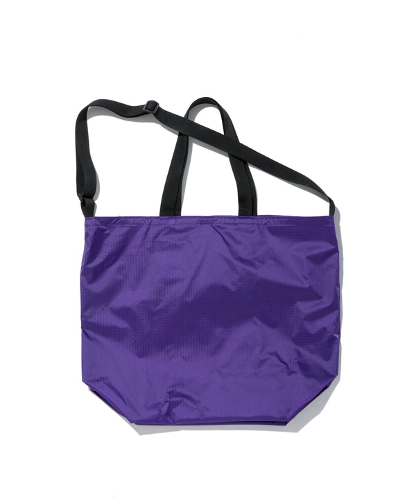 Packable Tote, Purple/Black