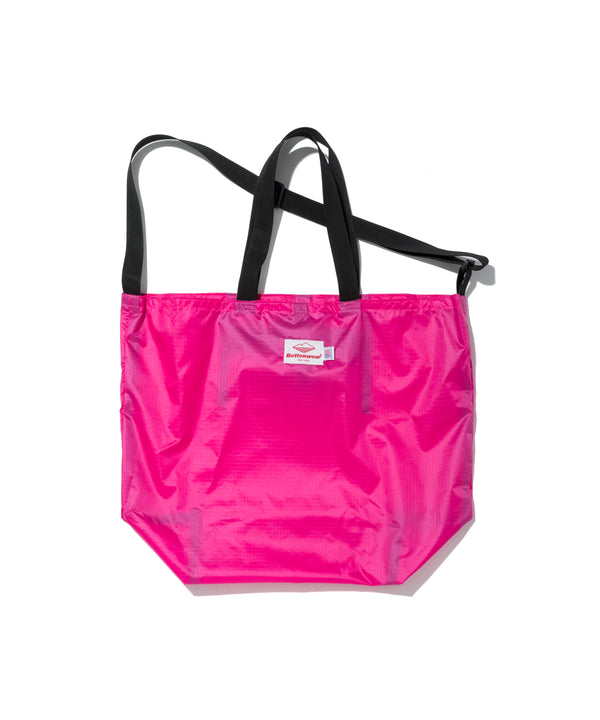 Packable Tote, Fuchsia x Black