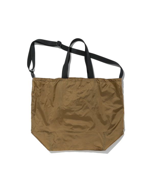 Packable Tote, Tan x Black