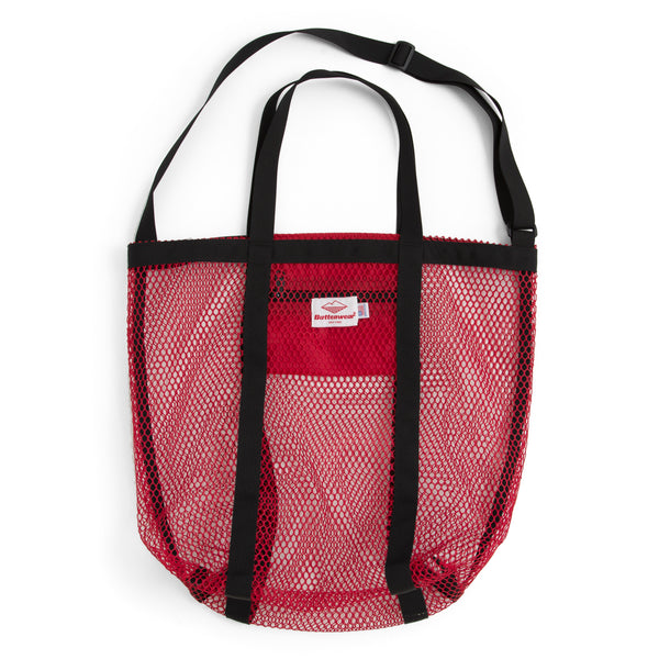 Mesh Tote, Red/Black