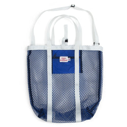 Mesh Tote, Royal/White