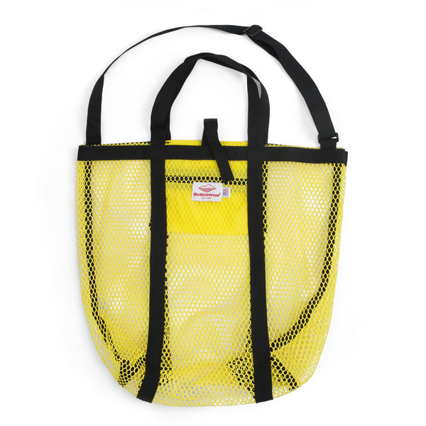 Mesh Tote, Yellow/Black