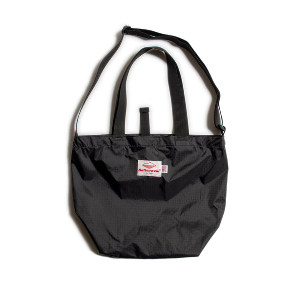 Mini Packable Tote, Black/Black