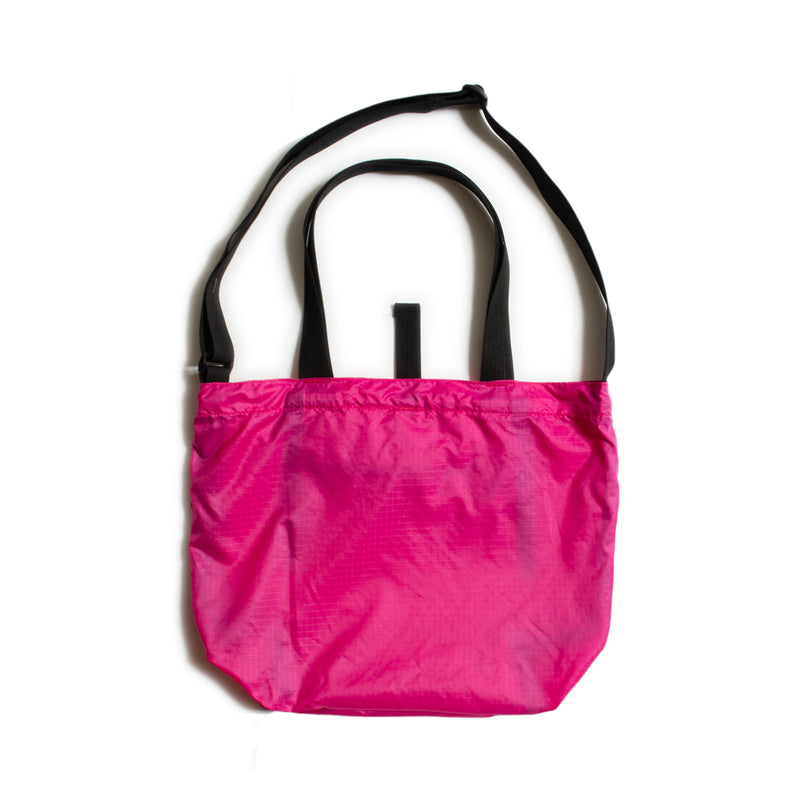 Mini Packable Tote, Fuchsia/Black