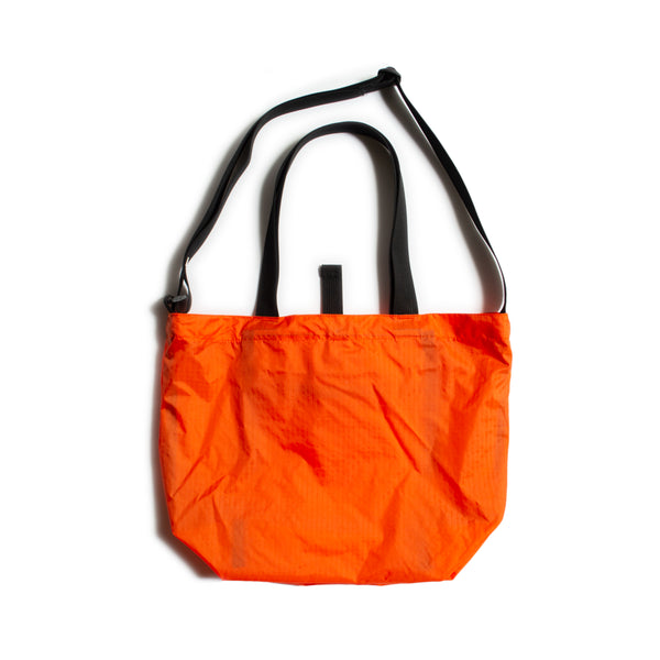 Mini Packable Tote, Orange/Black