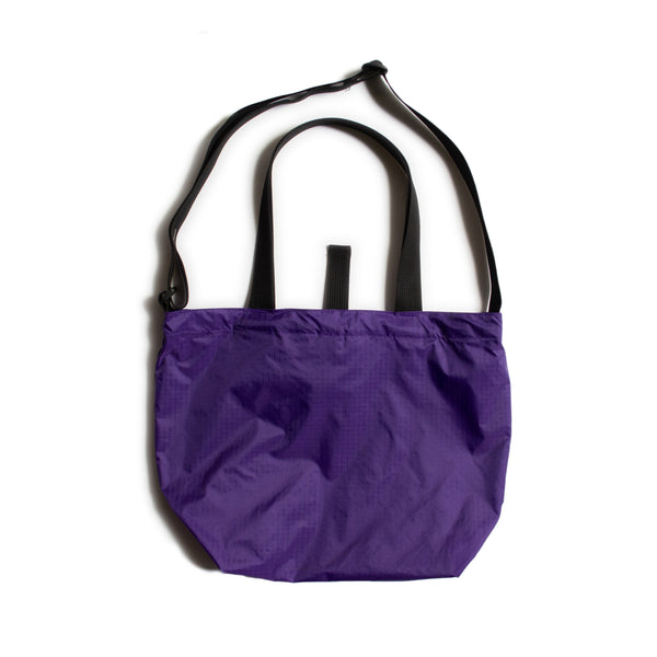 Mini Packable Tote, Purple/Black