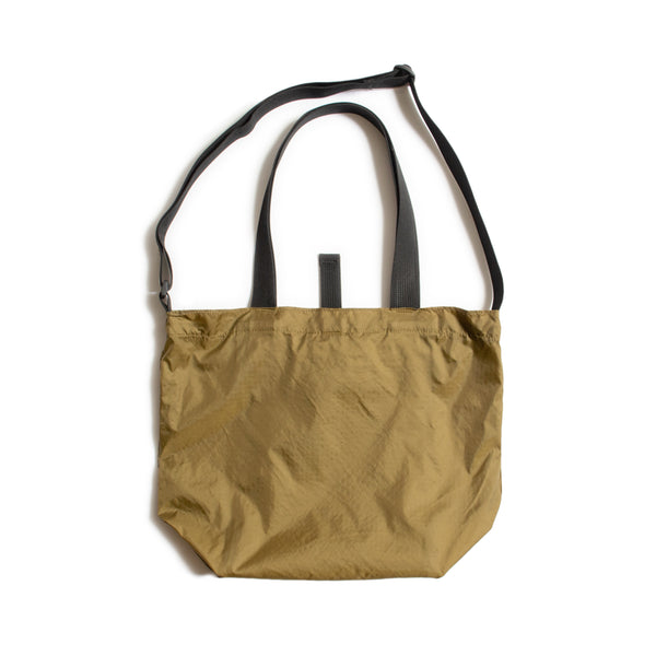 Mini Packable Tote, Tan/Black