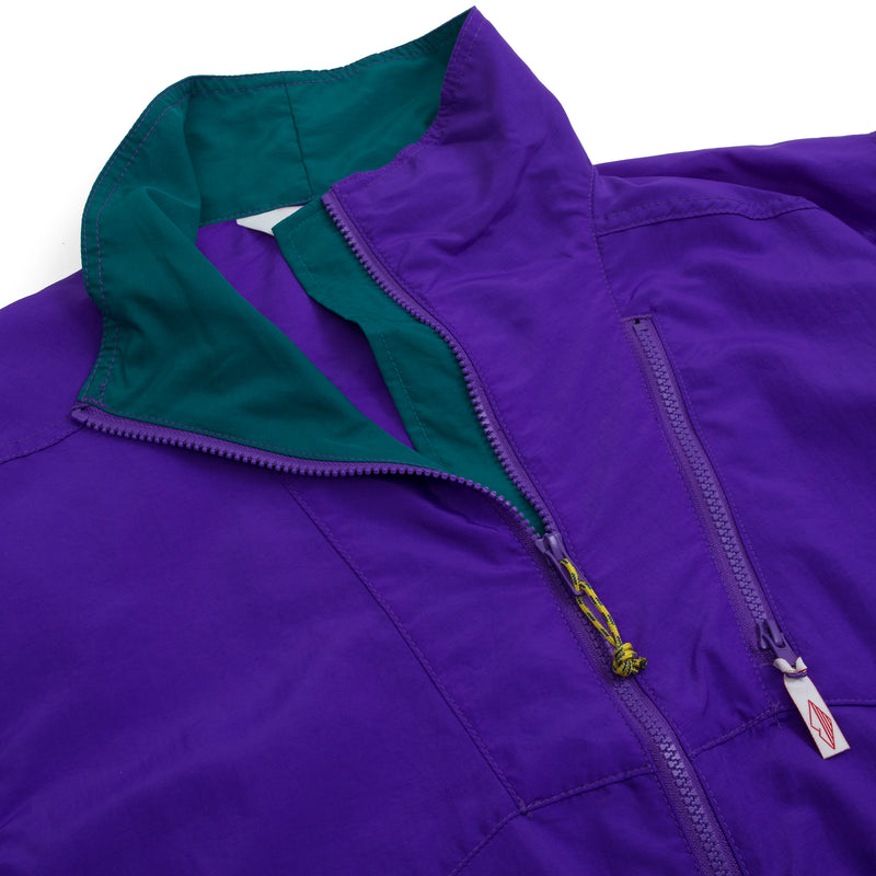 Nylon Jump Jacket, Purple/Teal