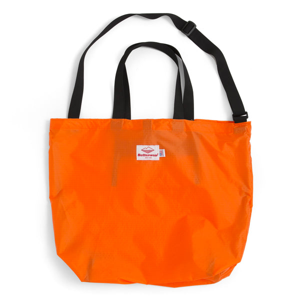 Packable Tote, Orange x Black