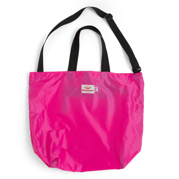 Packable Tote, Fuchsia/Black