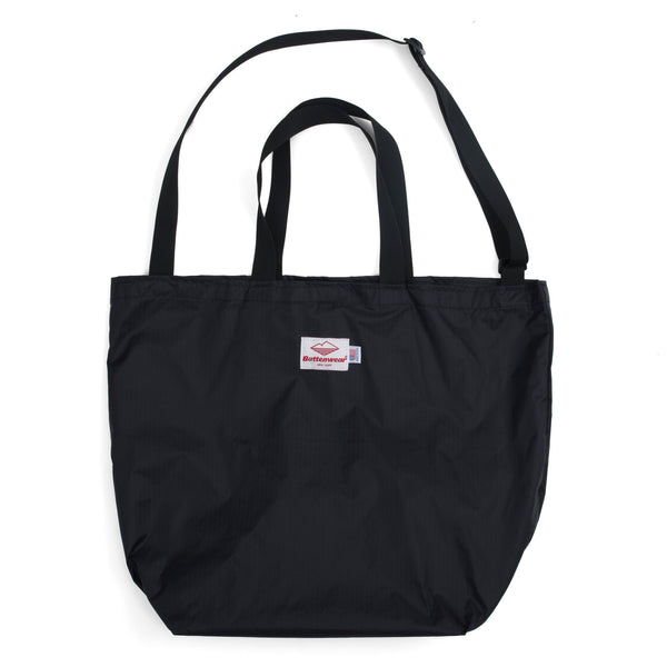Packable Tote, Black x Black