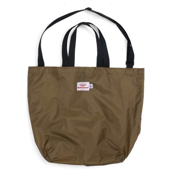 Packable Tote, Tan/Black