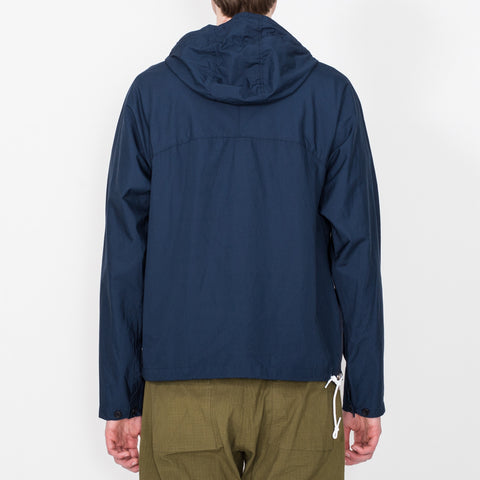 Packable Anorak, Navy Pima Cotton Poplin