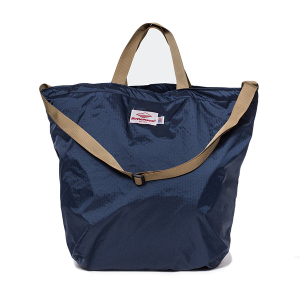 Packable Tote, Navy x Coyote