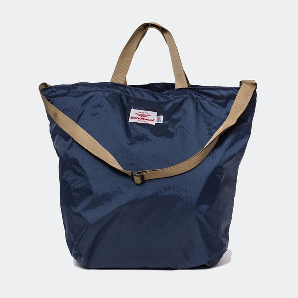 Packable Tote w/ Shoulder Strap, Navy/Coyote