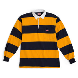 SAMPLE OF Pocket Rugby Shirt, Navy/Gold 8oz Jersey