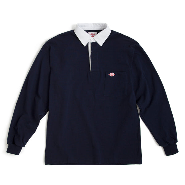 Pocket Rugby Shirt, Navy 8oz Jersey