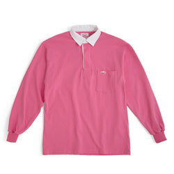 Pocket Rugby Shirt, Pink 8oz Jersey