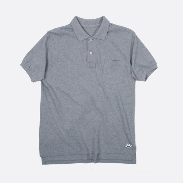 Polo Shirt, Heather Grey