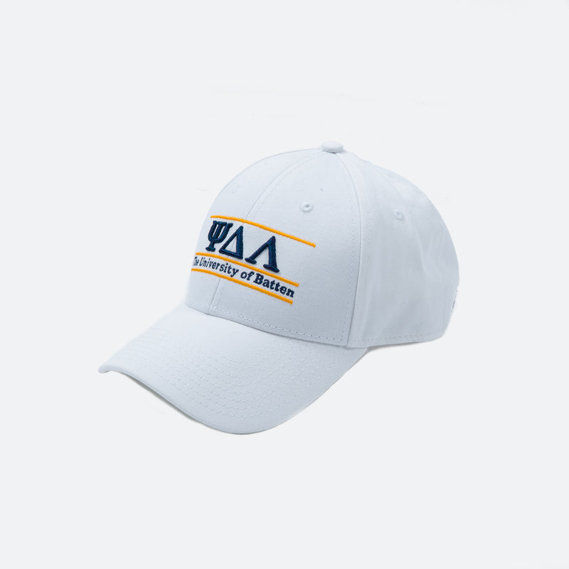 College Cap, White
