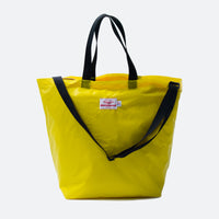 Packable Tote w/ Shoulder Strap, Yellow/Black