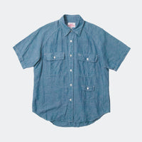 S/S Camp Shirt, Light Indigo