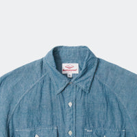 S/S Camp Shirt, Navy Paisley