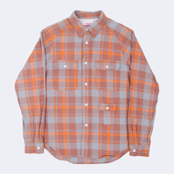 Camp Shirt, Butterscotch/Blue Plaid
