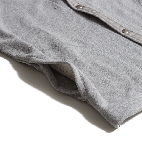 Sweat Cardigan, Heather Grey French Terry