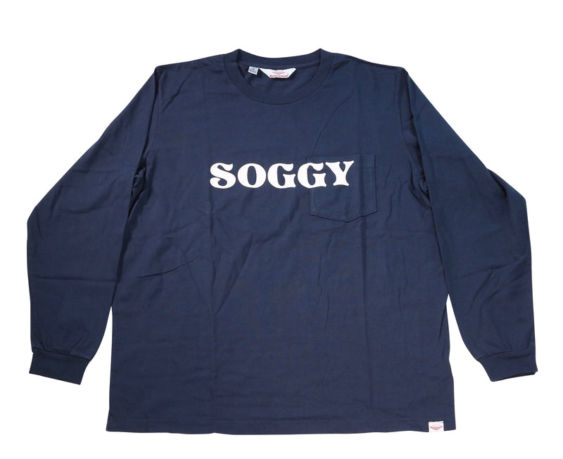 Soggy L/S Pocket Tee, Navy