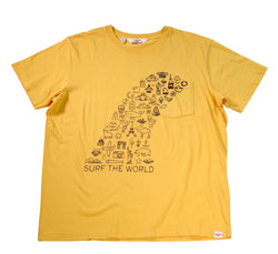 Surf the World S/S Pocket Tee, Mustard
